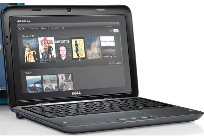 Latest Technology Products: Dell Inspiron DUO flipping ...