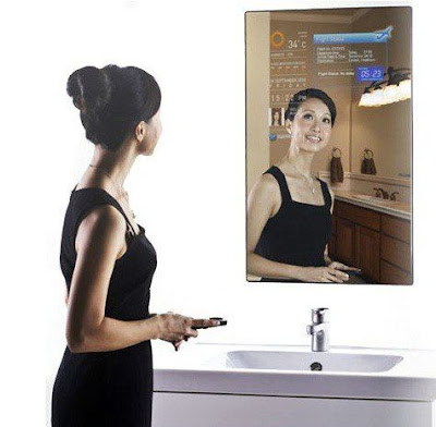 Cybertecture Mirror - interactive miracle mirror display, WiFi and  Android Seen On www.coolpicturegallery.us