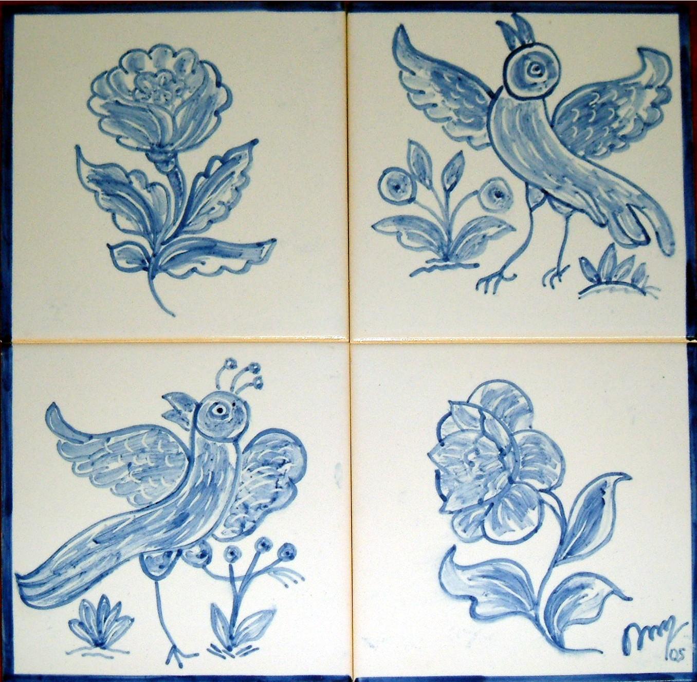 Pinturas de ana o 39 neill pintura de azulejos s culo xvii - Pintura de azulejos ...