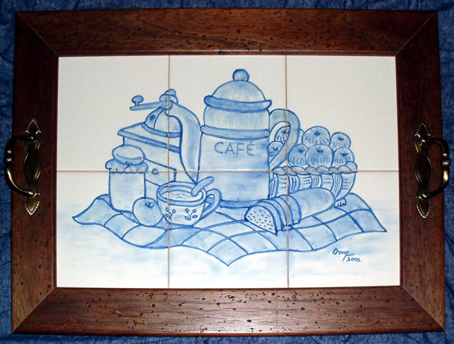 Pinturas de ana o 39 neill cesto composi o pintura em - Pintura de azulejos ...