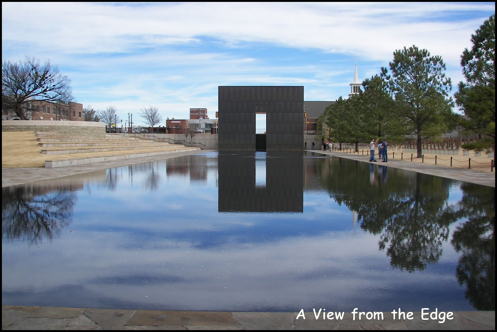 A view from the edge flashback friday okc memorial - Reflecting pool ...