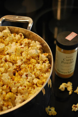 Yum! Curried popcorn!