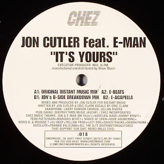 Classic house music jon cutler feat e man it 39 s yours for Classic uk house music