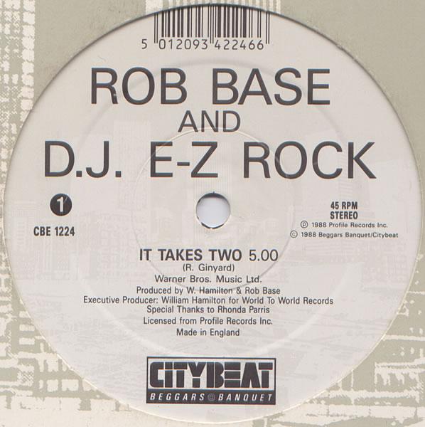 Classic House Music Rob Base Dj E Z Rock It Takes Two