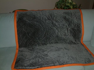 Well I lately got an e-mail from a reader inwards Strathmore Orange in addition to Grey Baby Quilt