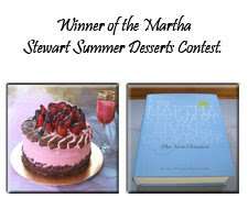Award from Martha stewart: click on picture to view