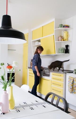 åpent hus: gult på kjøkkenet