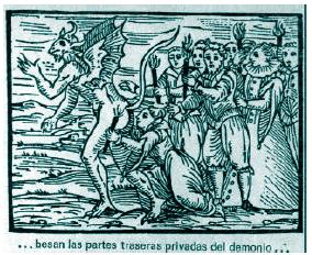 5. Los brujos besan las partes traseras del Demonio