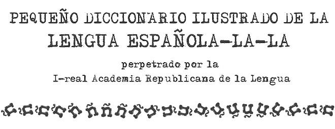 DICCIONARIO DE LA LENGUA ESPAÑOLA-LA-LA