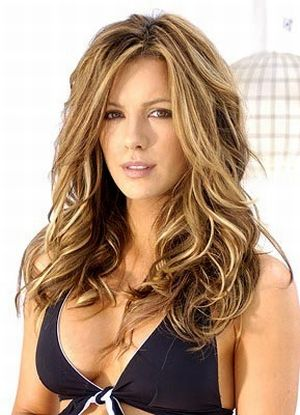 kate beckinsale blonde highlights