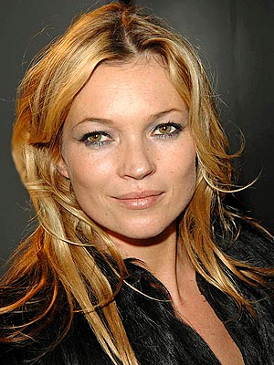 Kate Moss new hairstyle-blond bangs; new hairstyles
