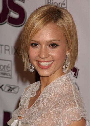 jessica alba short hairstyles. jessica alba with short hair