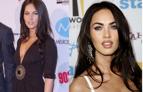 megan fox plastic surgery. Megan Fox lips before and