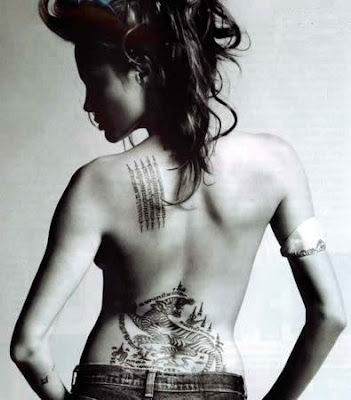 angelina jolie tattoo 3 Angelina Jolie Celebrity Body Paint