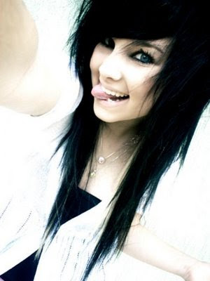 Long Black Scene Girl Hairstyles