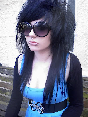 Long Black Scene Girl