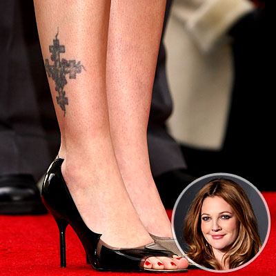 Tattoos are actually making it look more sexy 12 Drew Barrymore