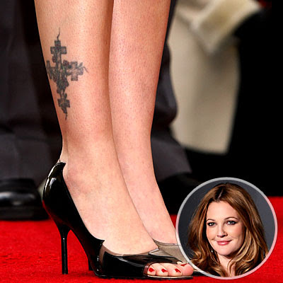 Love Style Celebrity Drew Barrymore Tattoos