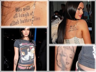 megan fox tattoos side. Megan Fox Tattoos