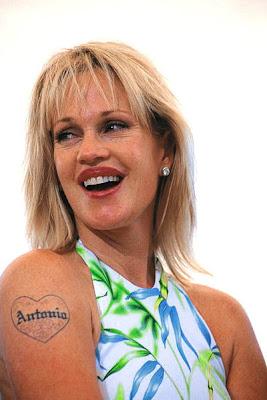 Melanie Griffith Tattoo