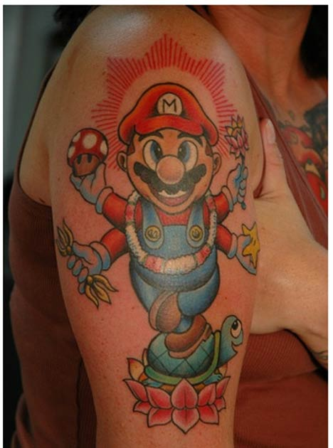 Video Game Hero Tattoos - Funny Bizarre Pictures