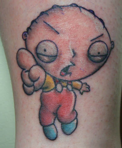 Stewie Griffin tattoo. 15. Obama's looking… a little lumpy.