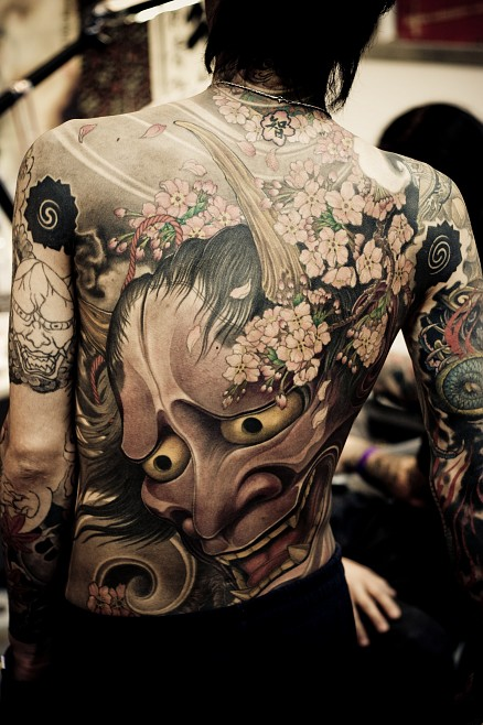 mask tattoo designs 14