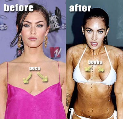 megan fox before plastic surgery pictures. Megan Fox before and after