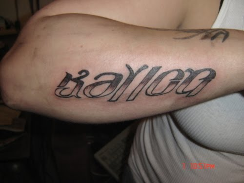 ambigrams tattoos. Ambigram Tattoos