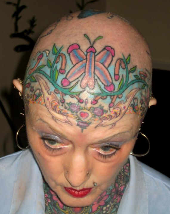 girls with face tattoos
