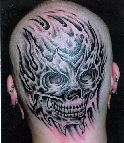 Scary Pictures of Skull Tattoos