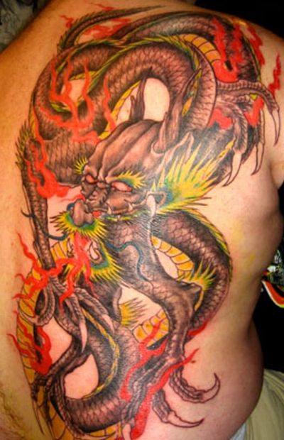 Celebrities Tattoos Girl: Dragon Tattoos