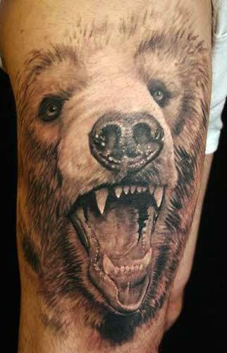 tattoo polar bear. Deeper Meanings Custom Tattoo Art Bear Head Tattoos