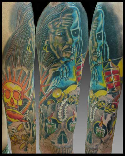 skull sleeve tattoos. Sleeve Tattoos