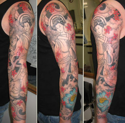 full sleeve tattoo design featuring. Japanese Dragon Tattoos Sleeve There