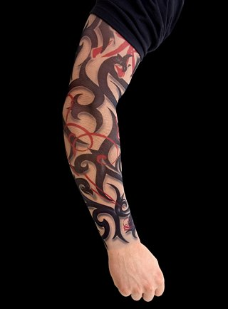arm sleeve tattoo for men women and girls-arm. Tribal Sleeve Tattoos