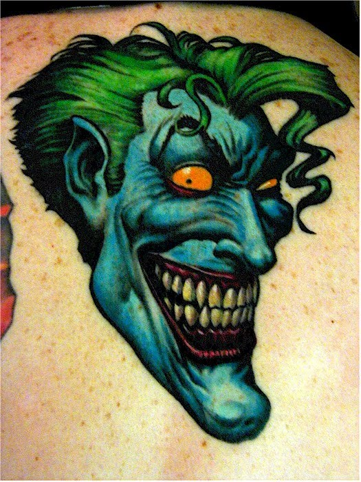 Jie sent in another Joker, done by Winsen from Dark Shadow tattoo, Germany.