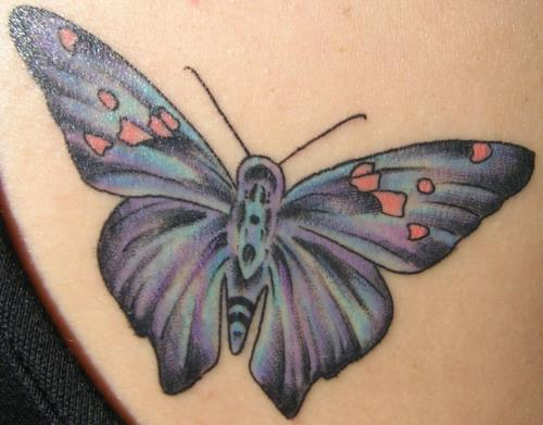 Colorful Butterfly Tattoo. Butterfly Tattoos