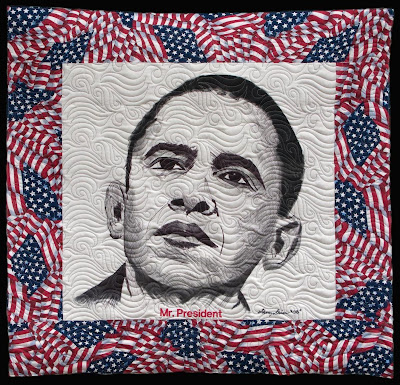 Mr president an obama quilt by sherry shine