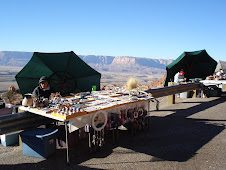 A stall with Navajo nation Indian women selling trinkets