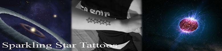 Sparkling star tattoos for Sparkling star tattoo