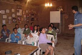 Trabajando con los integrantes del Grupo Cultural Ajalpan