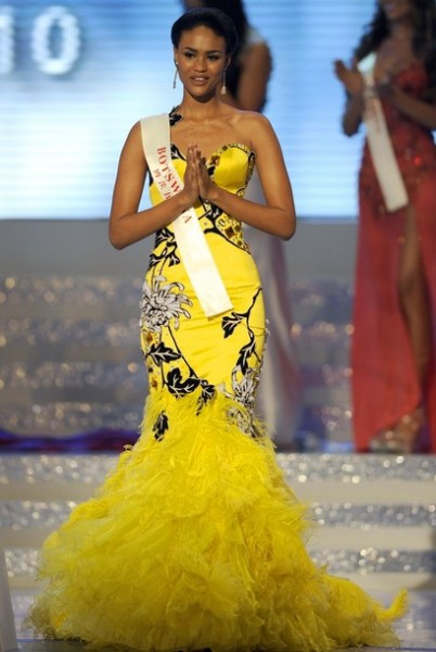 le fashionfudge  miss botswana 2010  emma wareus crowned miss world 2010 1st princess