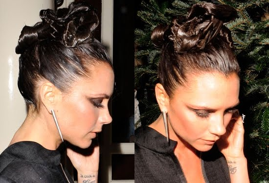 Victoria Beckham Cool Updo Hairstyles. She has a long face, and is  able to