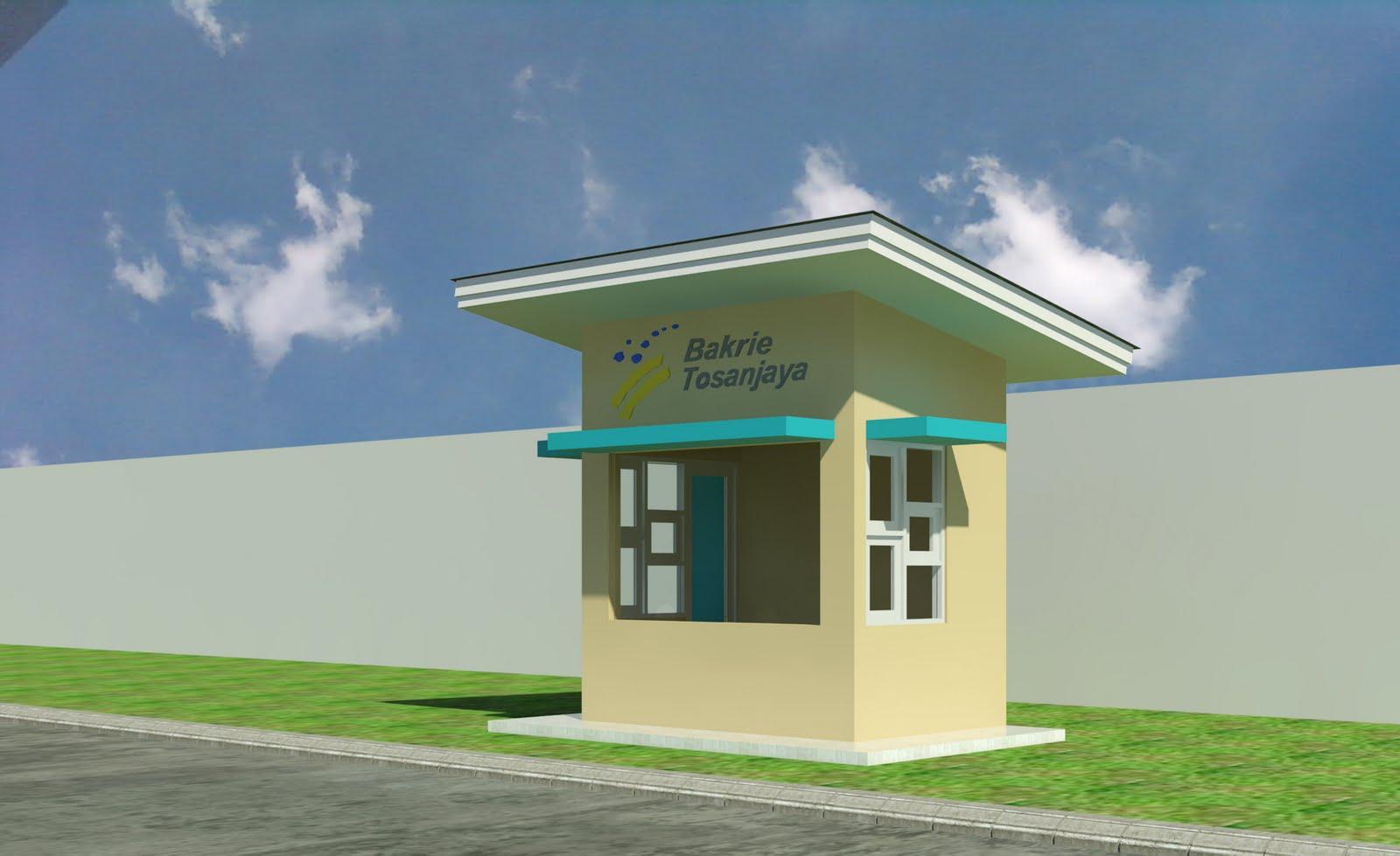 Desain Pos Jaga Bakrie Tosanjaya Raya Bekasi Pondok