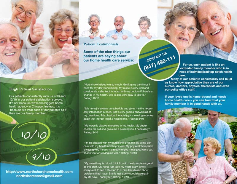 09 maja design: Northshore Home Healthcare - Brochure