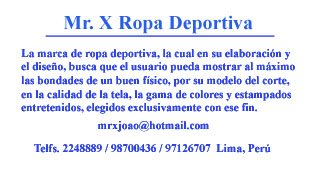 Mr. X Ropa Deportiva