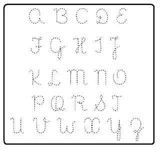 Alfabeto Letra Cursiva Mai  Scula Pontilhado
