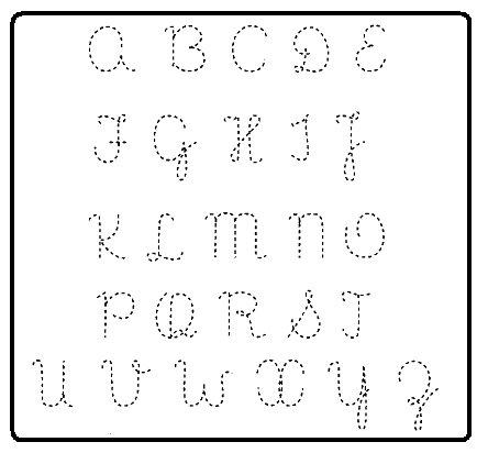 Alfabeto de letra cursiva para imprimir - Imagui