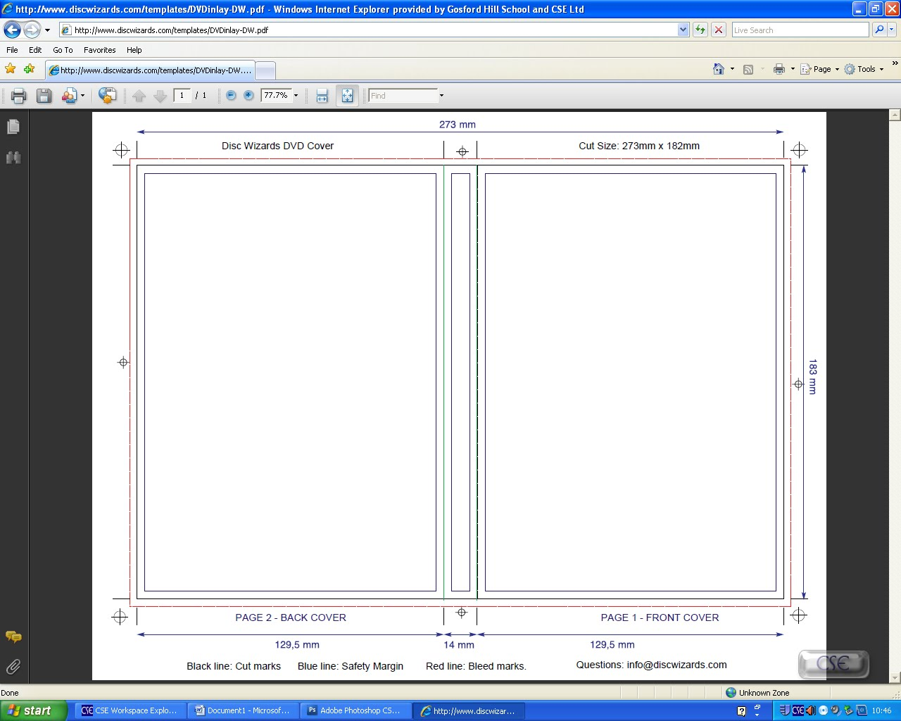 dvd case template